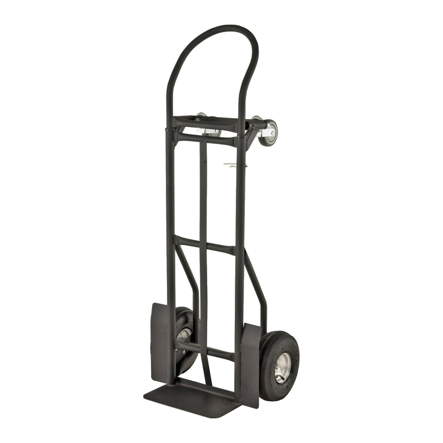 Picture of ProSource YY-600-2 Hand Truck, 14 in W Toe Plate, 7-3/4 in D Toe Plate, 800 lb, Pneumatic Caster, Steel Frame