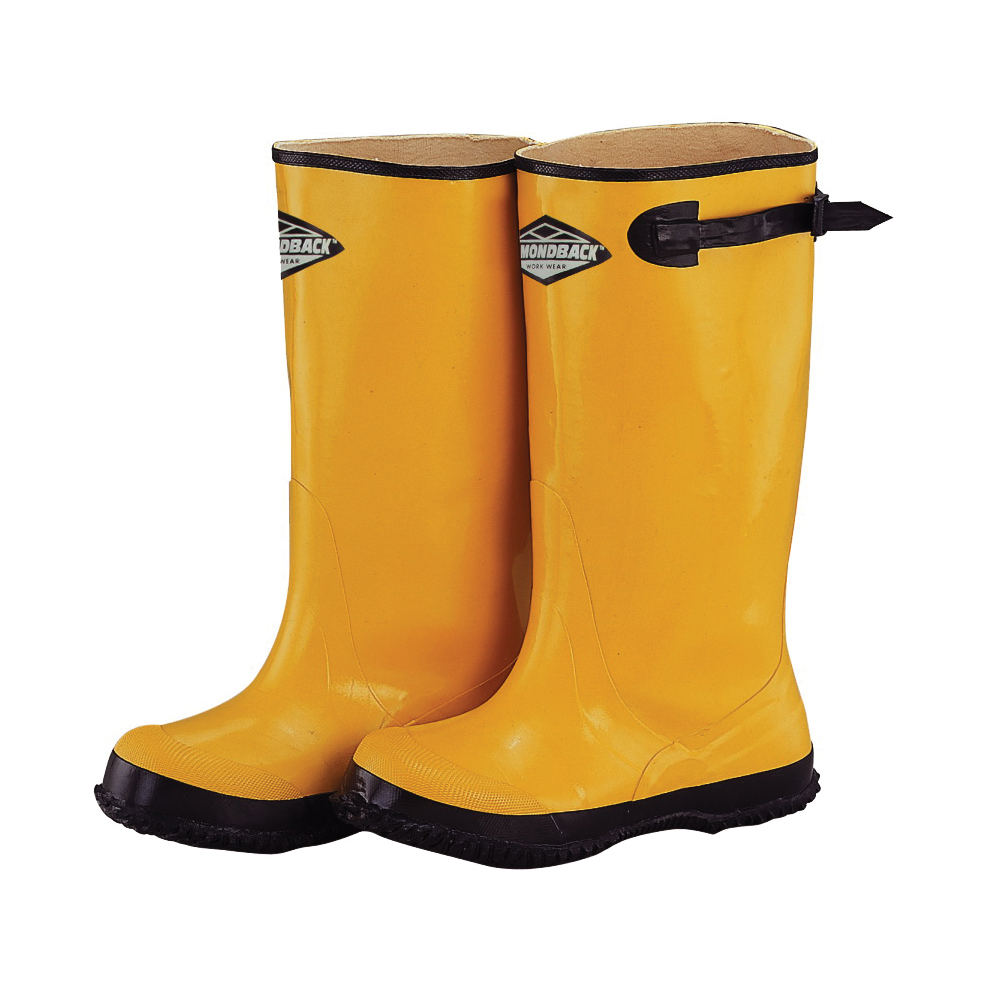 Picture of Diamondback Simple Spaces RB001-10-C Over Shoe Boots, 10, C W, Yellow, Rubber Upper