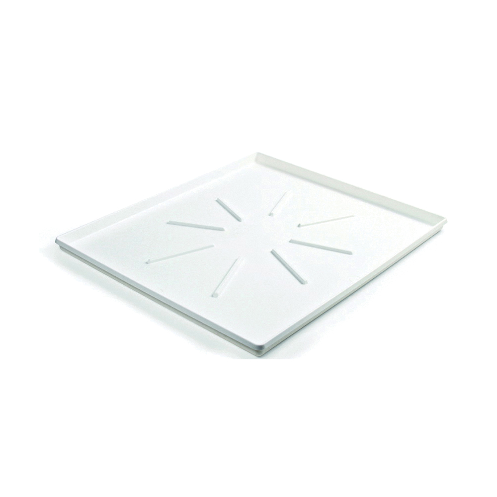 Picture of CAMCO 20786 Washing Machine Drain Pan, Low Profile, Polypropylene, White, Matte, For: Front-Loading Machines