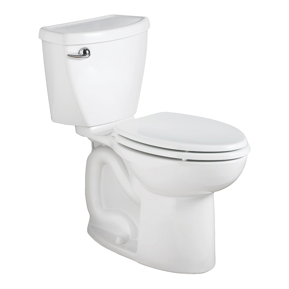 Picture of American Standard Cadet 3 Series 3378.128ST.020 Elongated Toilet, Elongated Bowl, 1.28 gpf Flush, 12 in Rough-In
