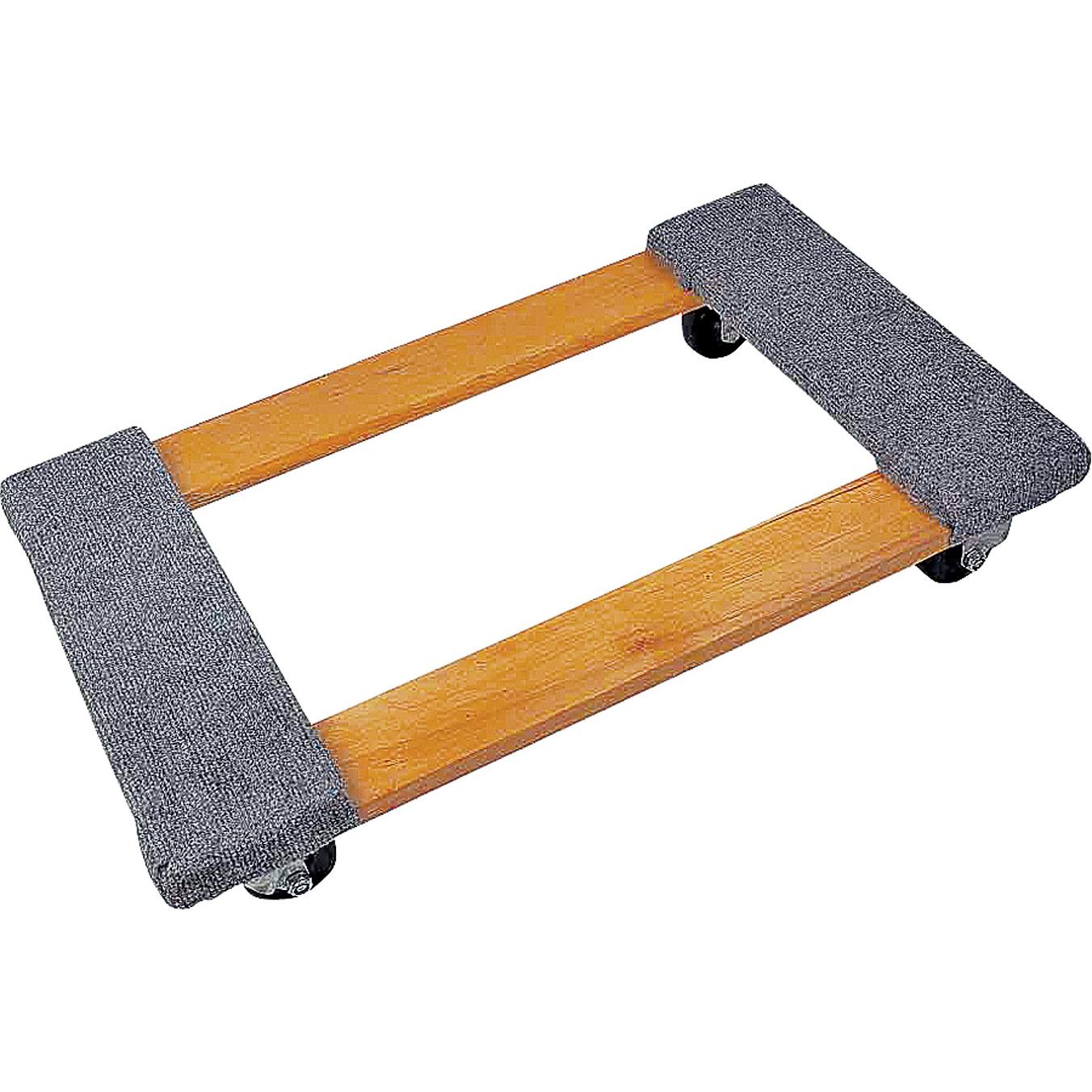 Picture of ProSource TC-500 Furniture Dolly, 1000 lb, 30 in W Platform, 18 in D Platform, Wood Construction Platform
