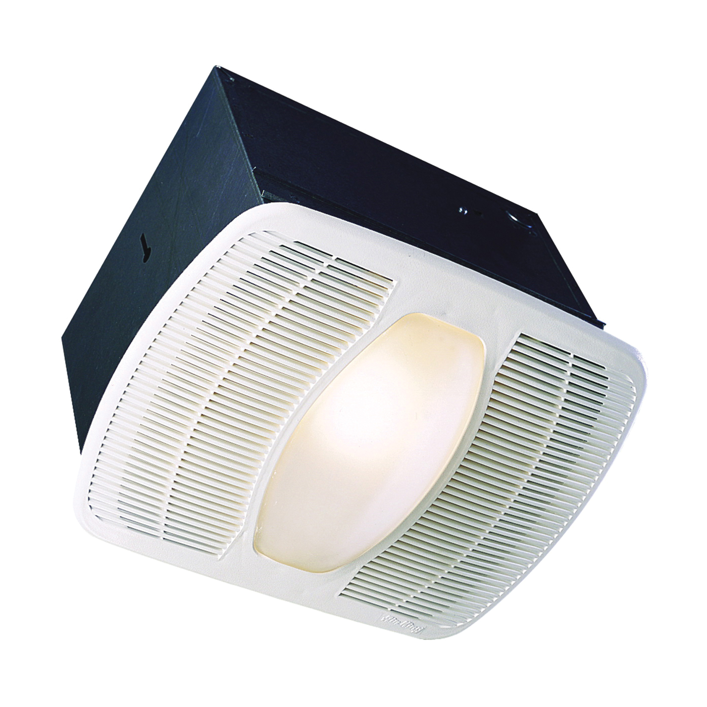 Picture of Air King LEDAK100 Exhaust Fan with Light, 0.6 A, 115/120 V, 100 cfm Air, 2 sones, LED Lamp, 4 in Duct, White