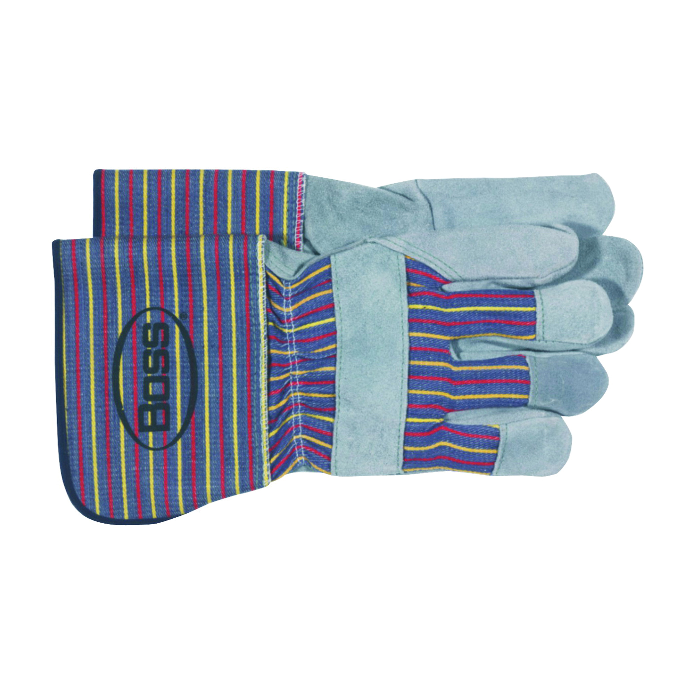 Picture of BOSS 4046 Driver Gloves, Unisex, L, Wing Thumb, Gauntlet Cuff, Gray