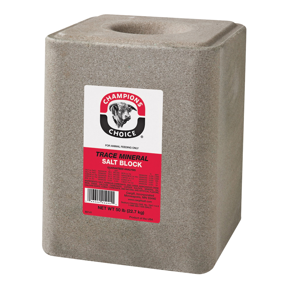 Picture of Cargill Champion's Choice 100012624 Trace Mineral Salt, 50 lb Package