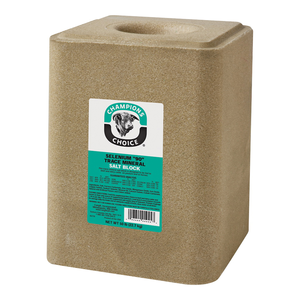 Picture of Cargill Champion's Choice Selenium 90 Series 100012623 Trace Mineral Salt, 50 lb Package