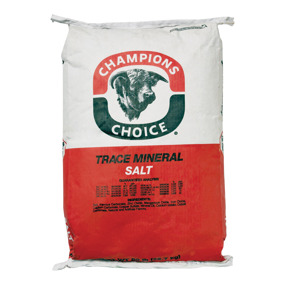 Picture of Cargill Champion's Choice 100011361 Trace Mineral Salt, 50 lb Package, Bag
