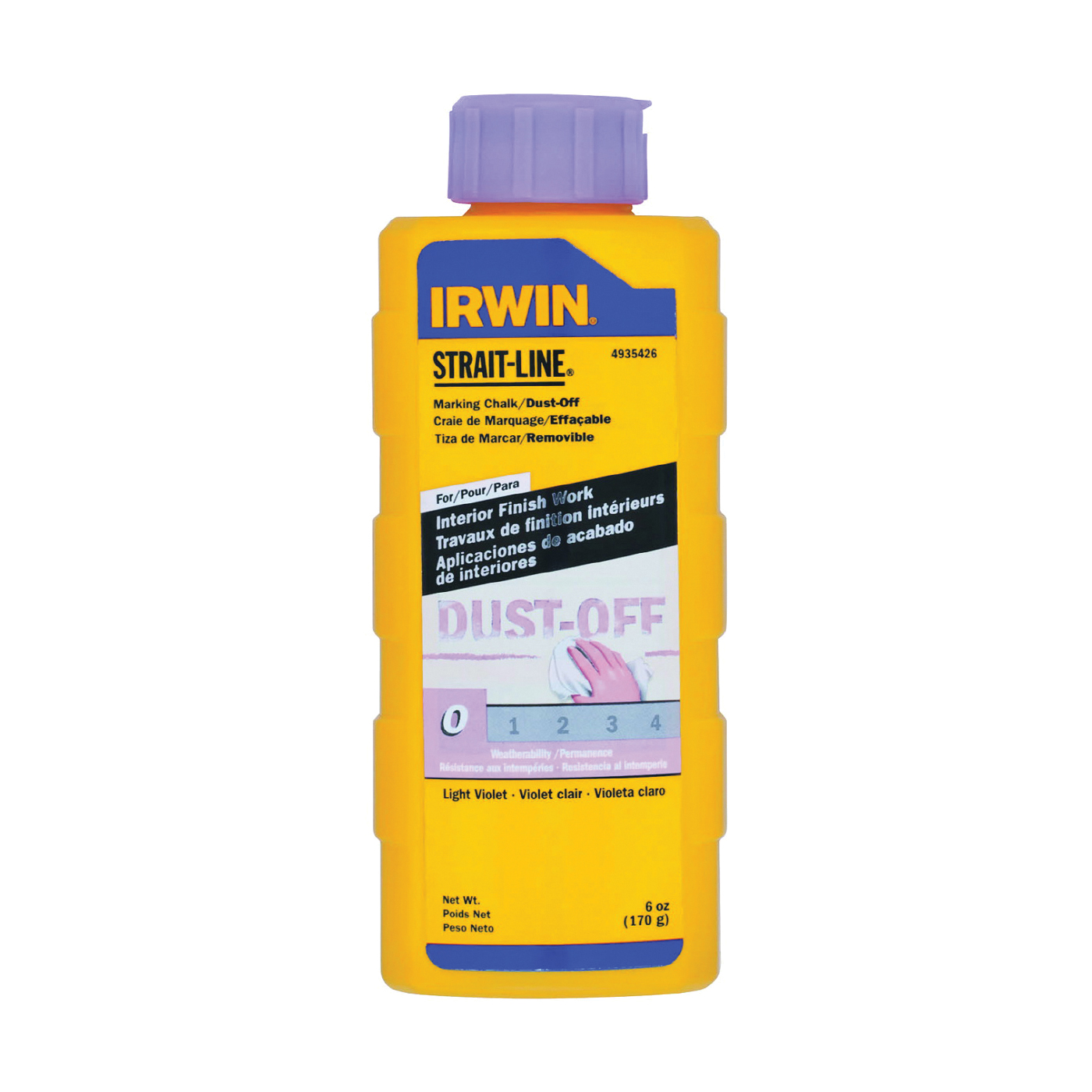 Picture of IRWIN 4935426 Marking Chalk Refill, Light Violet