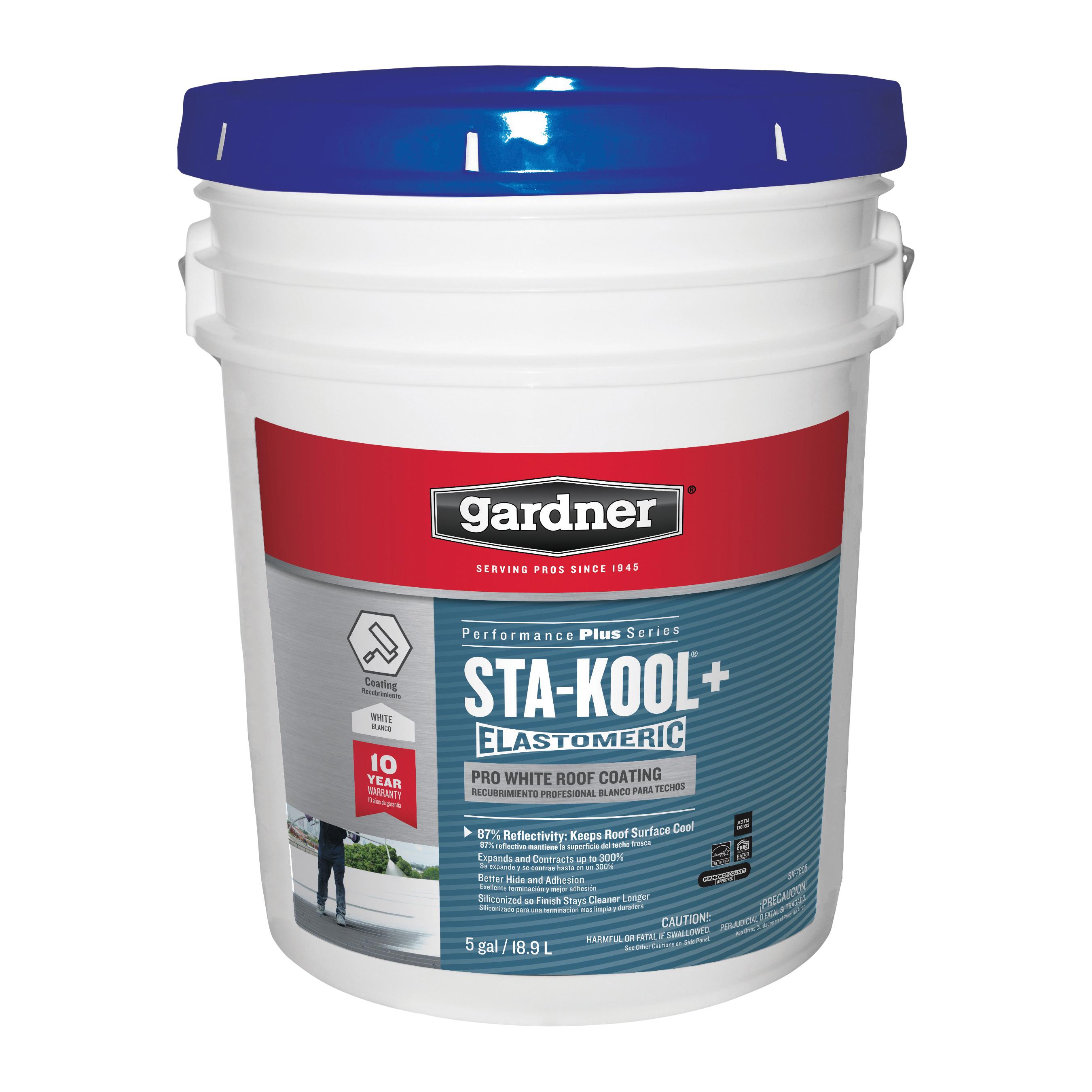 Picture of Gardner SK-7805 Elastomeric Roof Coating, White, 18 L, Pail, Liquid