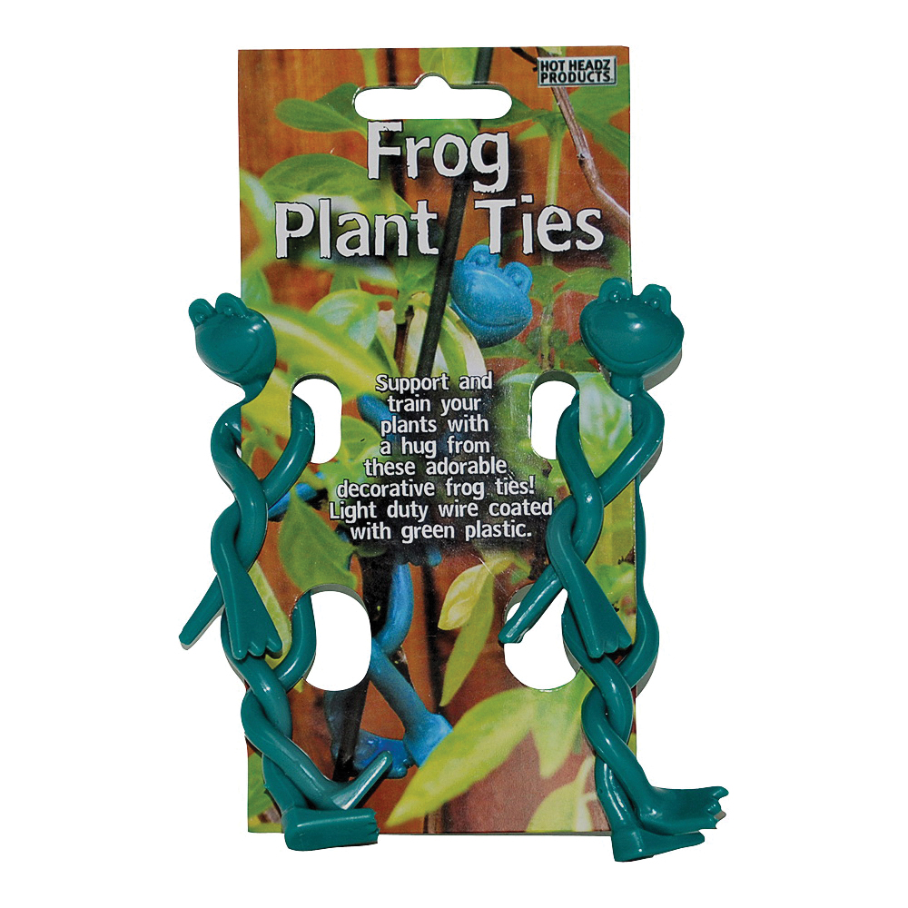 Picture of Hot Headz H-FROG-CS24 Plant Frog Tie Clipstrip, 2-1/2 in L, Plastic, Green