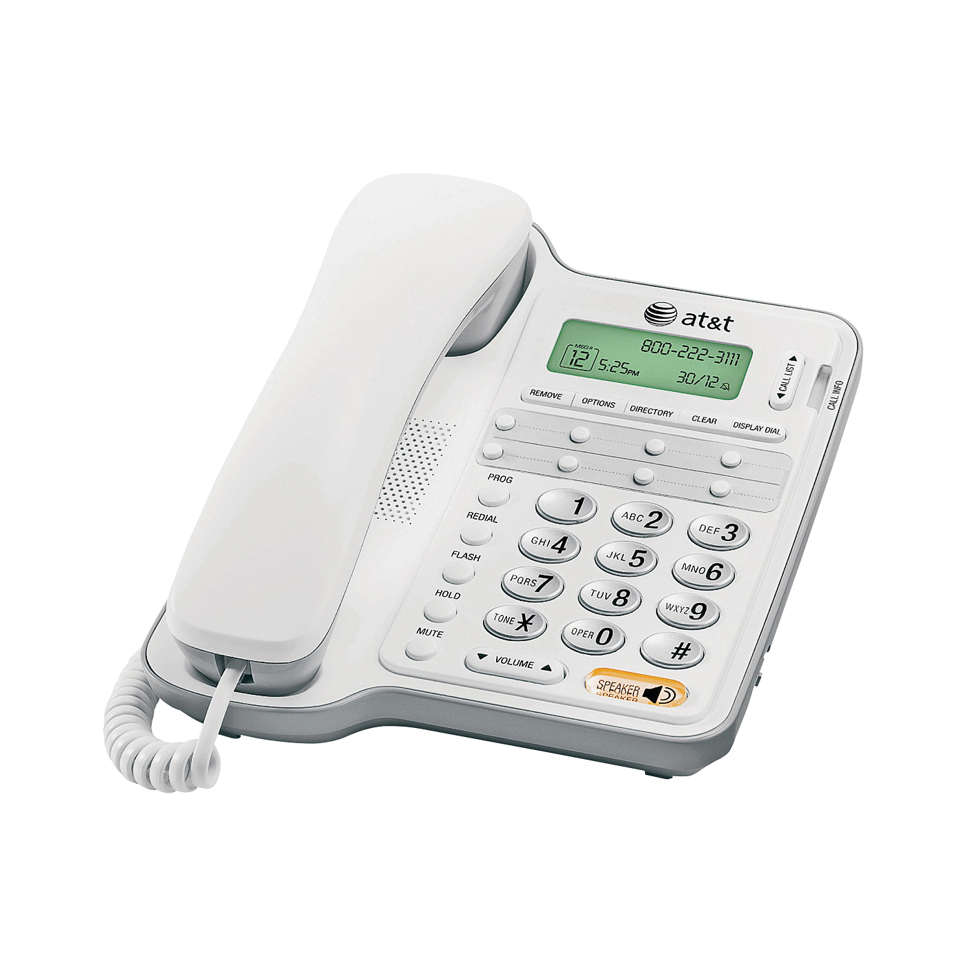 Picture of Vtech AT2909/CL2909 Corded Speakerphone, 65 Name Input, Digital Display, Gray/White