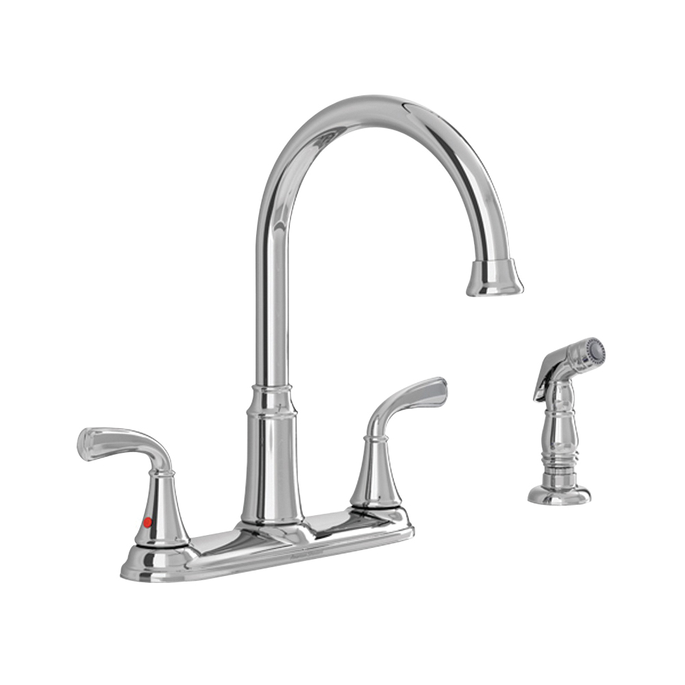 Picture of American Standard Tinley 7408400.002 High-Arc Kitchen Faucet with Side Spray, 1.8 gpm, 2-Faucet Handle, Lever Handle