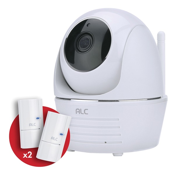Picture of ALC AWF33-S2 Wi-Fi Camera, 90 deg View, 1080 pixel Resolution, Night Vision: 35 ft, White, Wall Mounting
