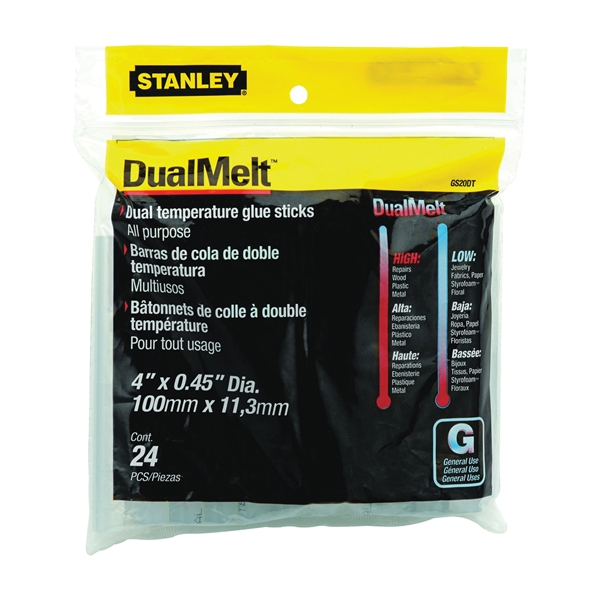 Picture of STANLEY DualMelt GS20DT Glue Stick, Stick, Resin Odor, Silver
