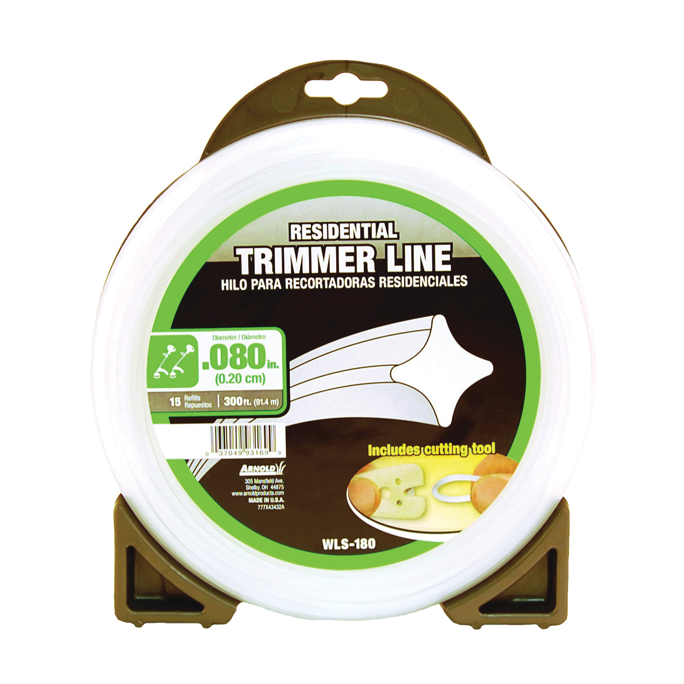 Picture of ARNOLD WLS-180 Trimmer Line, 0.08 in Dia, 300 ft L, Nylon