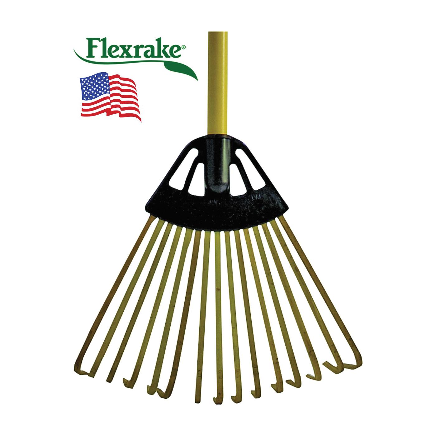 Picture of Flexrake CFP10 Leaf Rake, Bamboo Tine, Hardwood Handle, 36 in L Handle