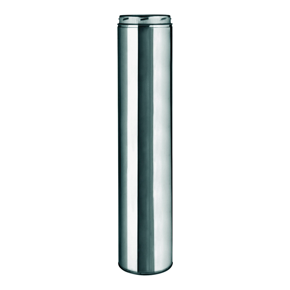 Picture of SELKIRK 206148 Chimney Pipe, 8 in OD, 48 in L, Stainless Steel