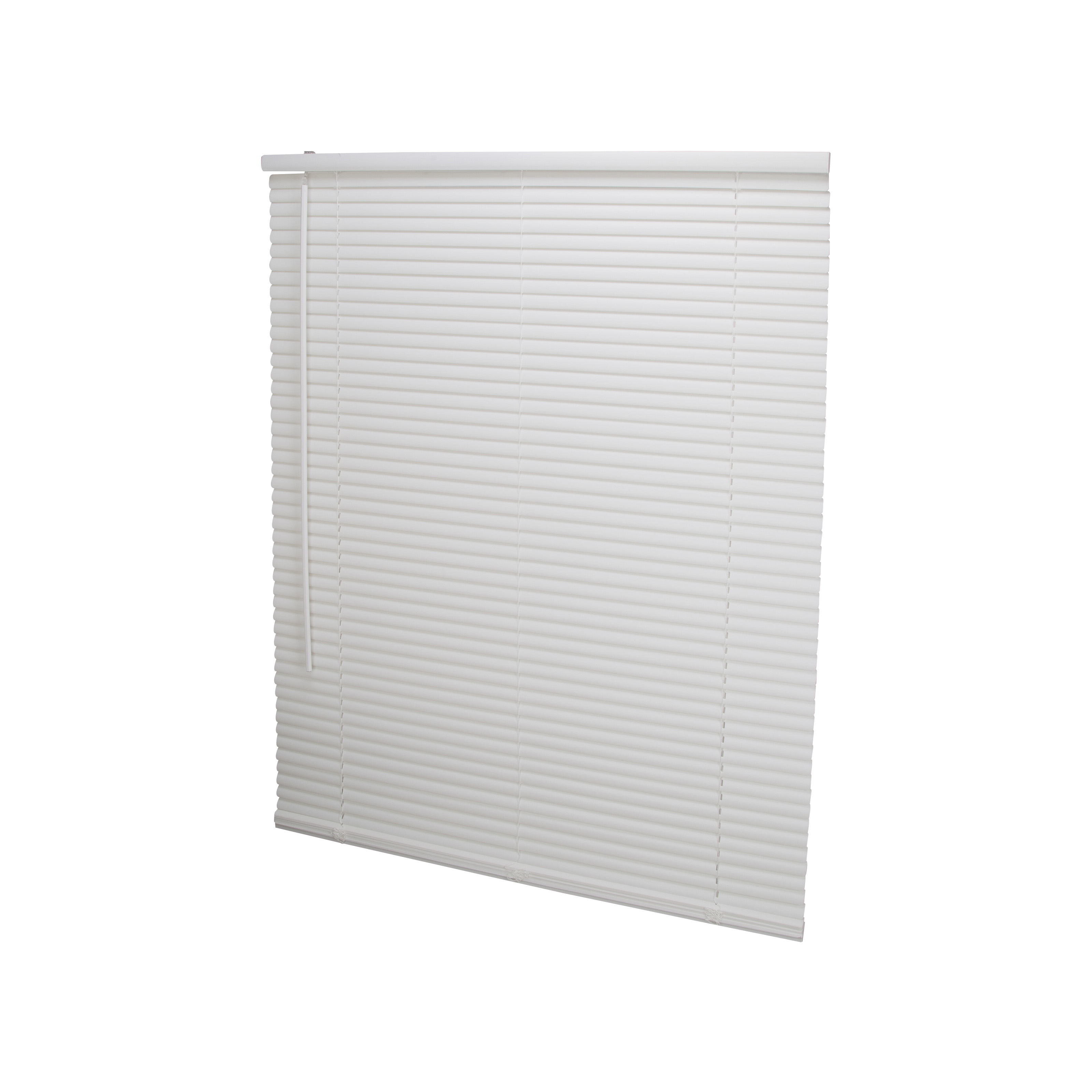 Picture of Simple Spaces PVCMB-12A Cordless Mini Blind, 64 in L, 39 in W, Vinyl, White