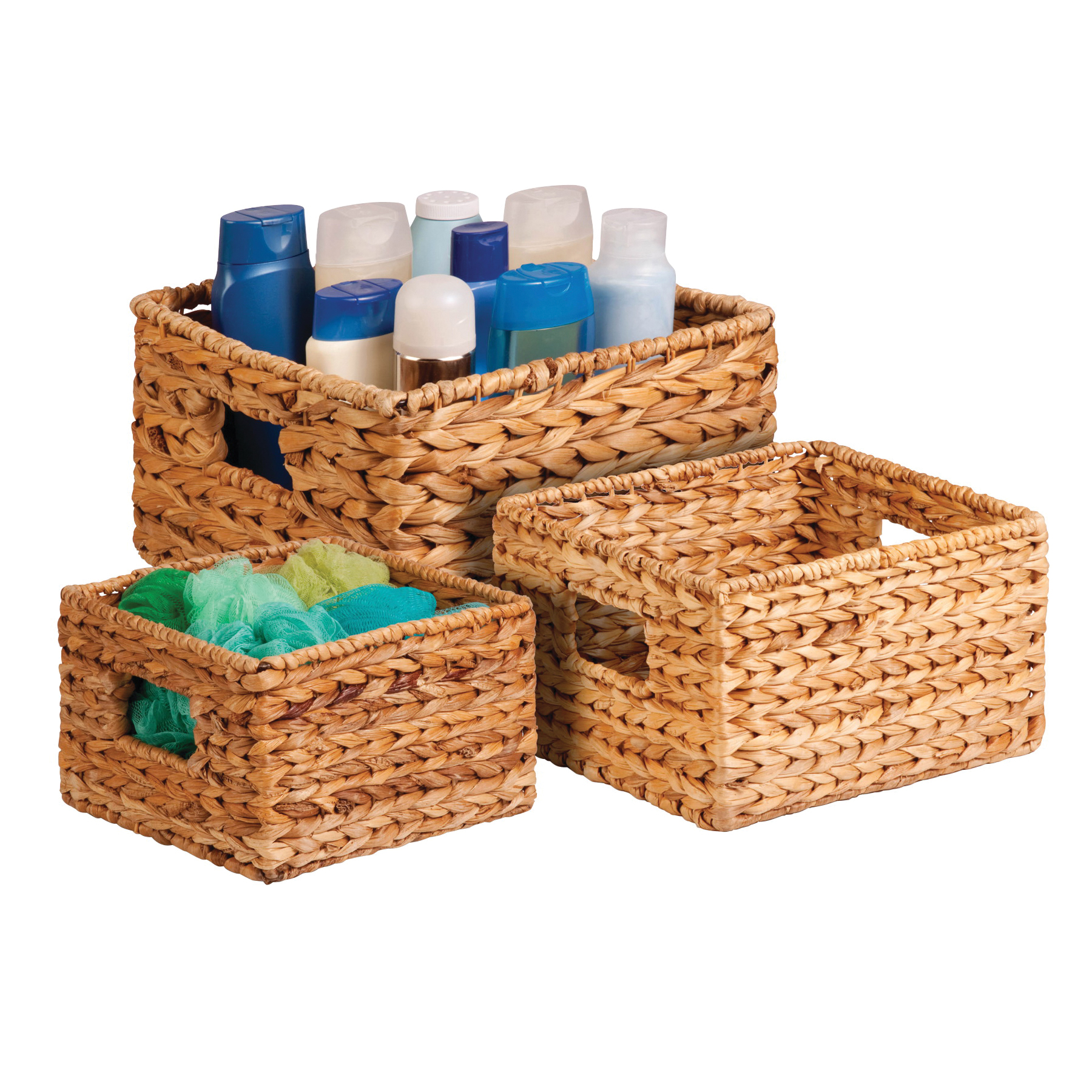 Picture of Honey-Can-Do STO-02882 Basket Set, Natural Brown, Square