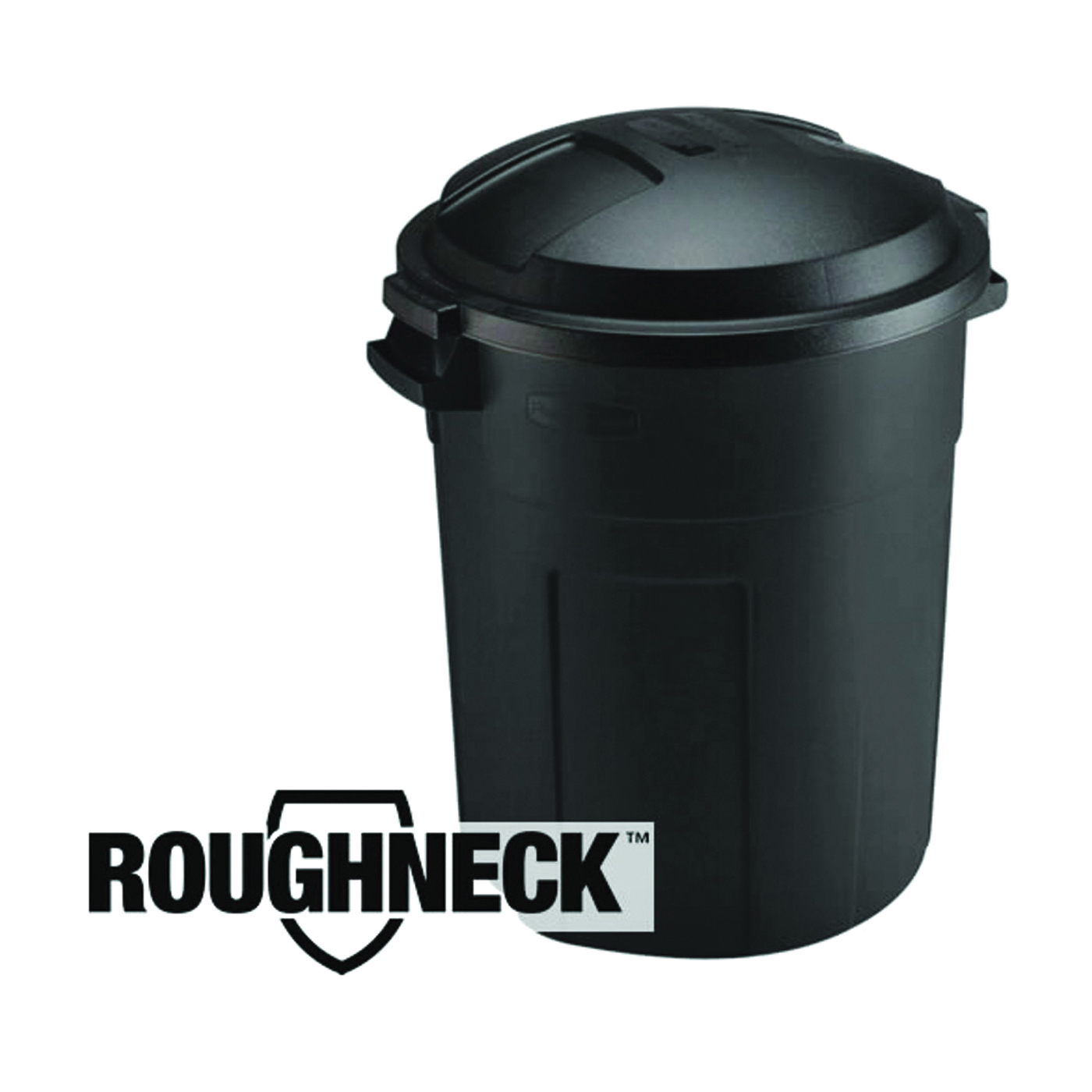 Picture of Rubbermaid 289200BLA Trash Can, 20 gal Capacity, Plastic, Black, Snap-Fit Lid Closure