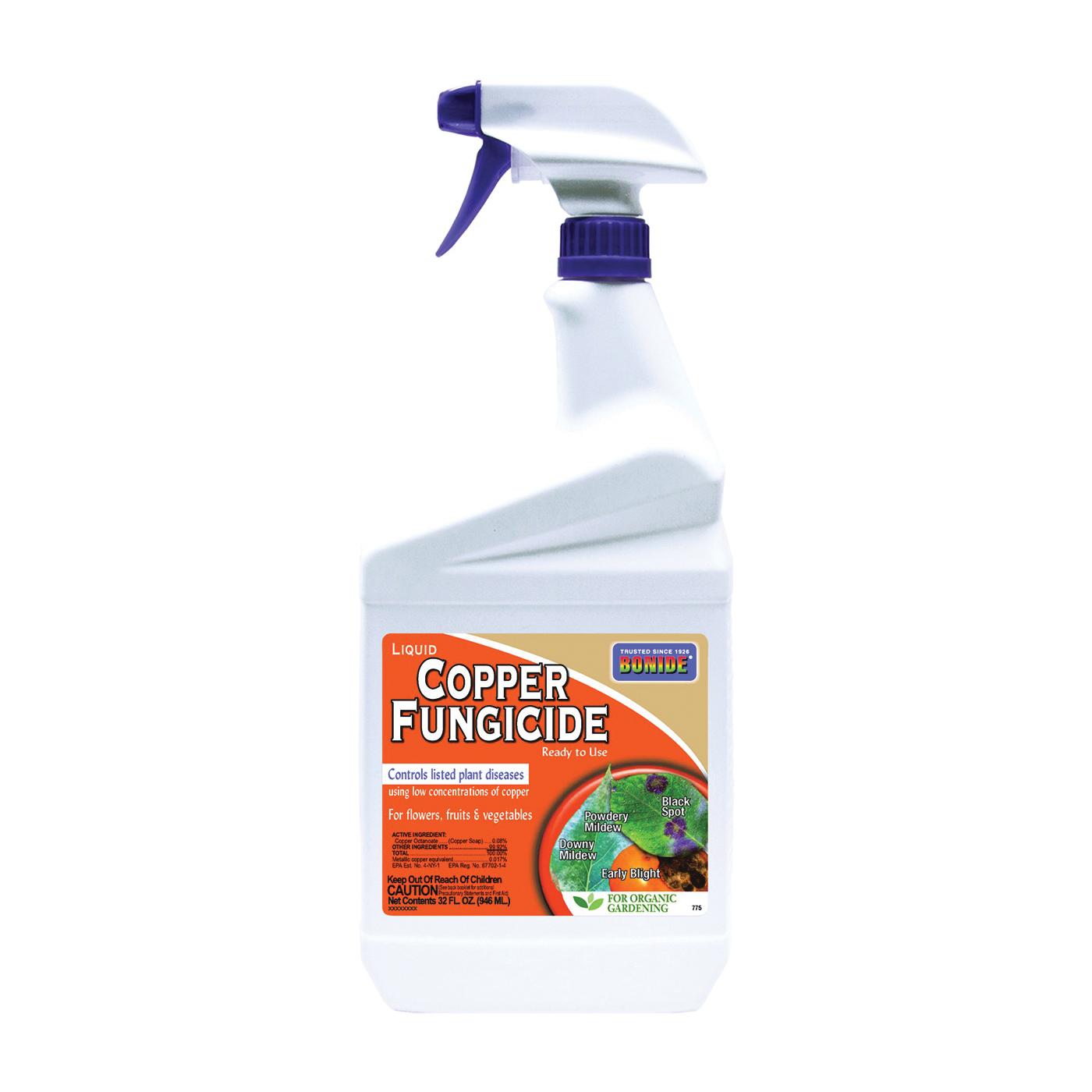 Picture of Bonide 775 Copper Fungicide, Liquid, Fat, Blue, 1 qt Package, Bottle