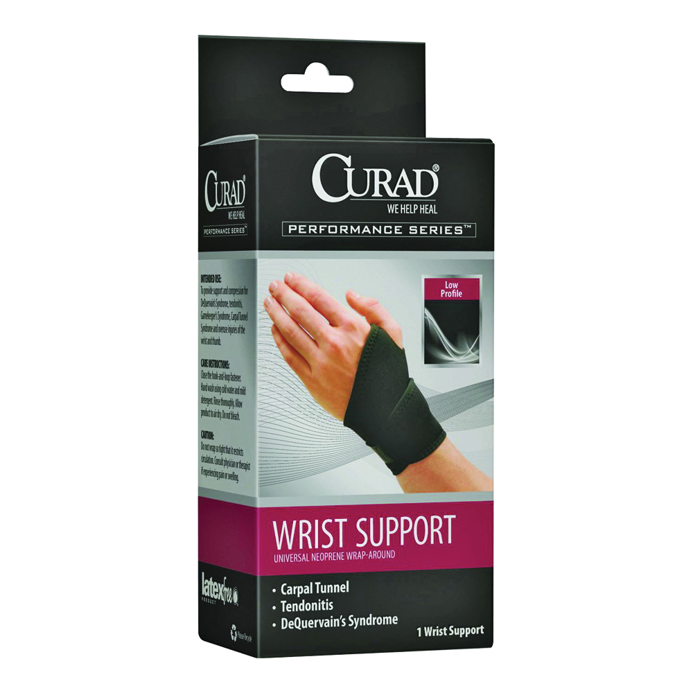 Picture of CURAD ORT19700D Wrist Support, 7 to 11 in L, Neoprene Bandage, 4, Case