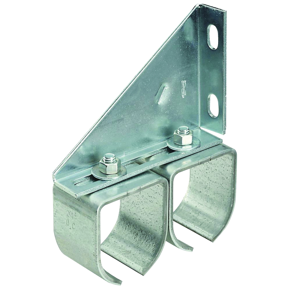 Picture of National Hardware N193-904 Round Rail, Steel, Galvanized, 2 in W, 7-3/32 in H, 5-13/16 in L