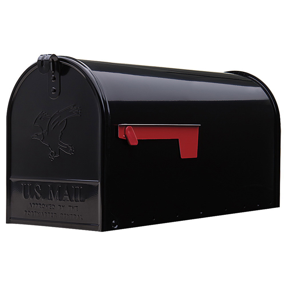 Picture of Gibraltar Mailboxes Elite E1600B00 Mailbox, 1475 cu-in Capacity, Galvanized Steel, Powder-Coated, 8.7 in W, Black