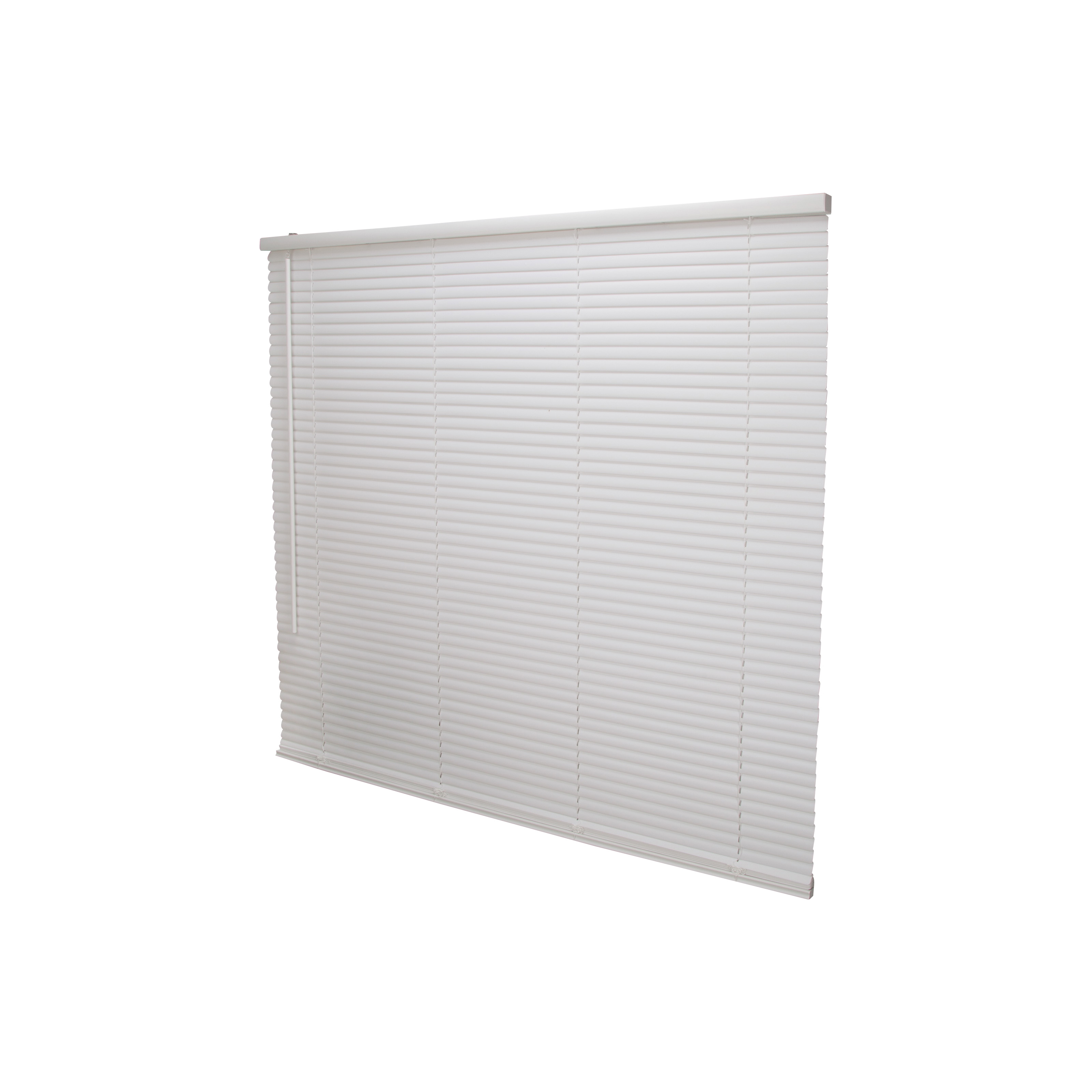 Picture of Simple Spaces PVCMB-13A Cordless Mini Blind, 64 in L, 43 in W, Vinyl, White