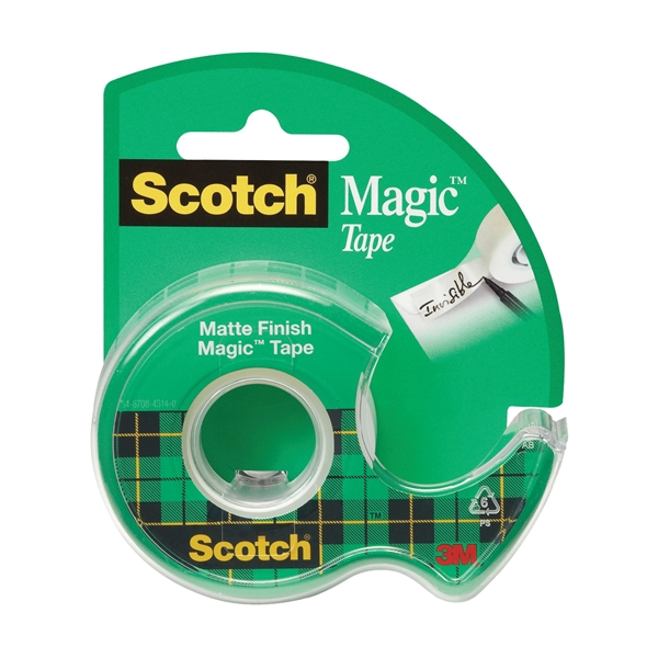 Picture of Scotch Magic 105 Office Tape, 300 in L, 3/4 in W, Plastic Backing