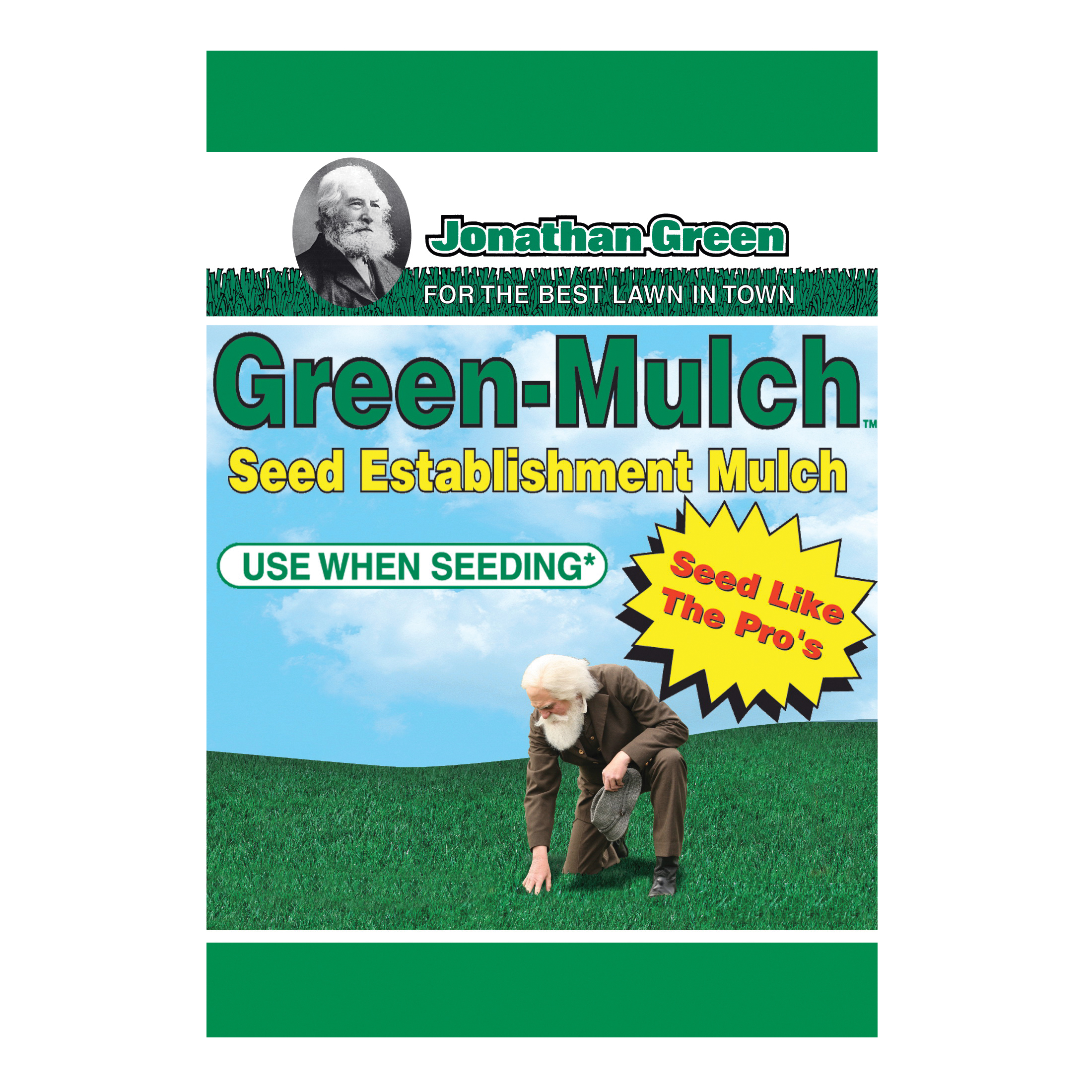 Picture of Jonathan Green 10944 Seed Establishment Mulch, Granular, Green, 15 lb Package, Bag