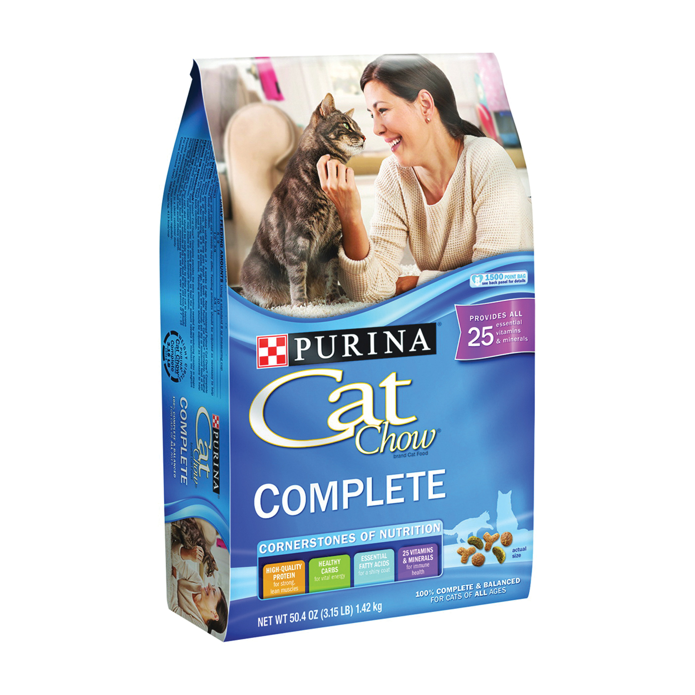 Picture of Purina 1780015014 Dry Cat Food, 3.15 lb Package, Bag