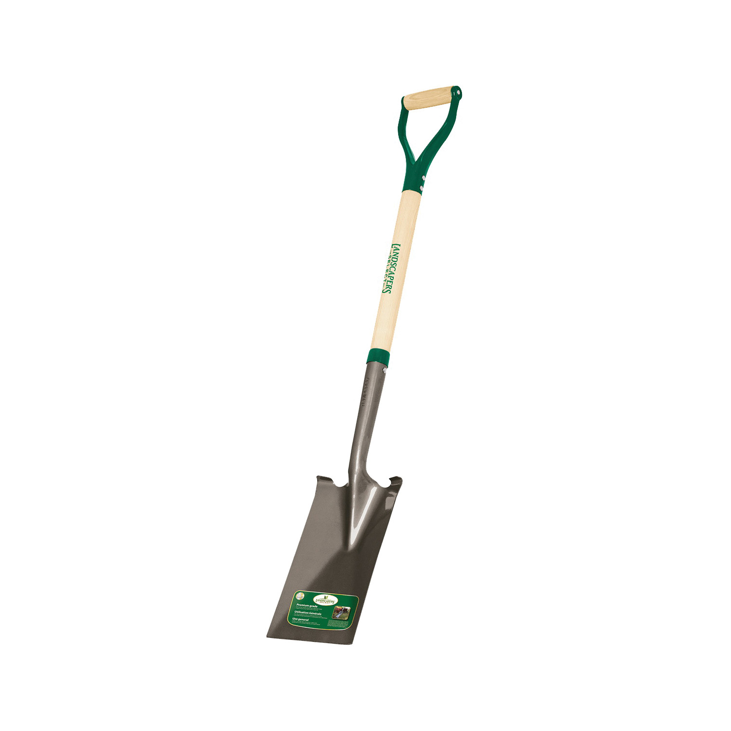 Picture of Landscapers Select 34595 Garden Spade Shovel, 7 in W Blade, Steel Blade, Wood Handle, D-Shaped Handle