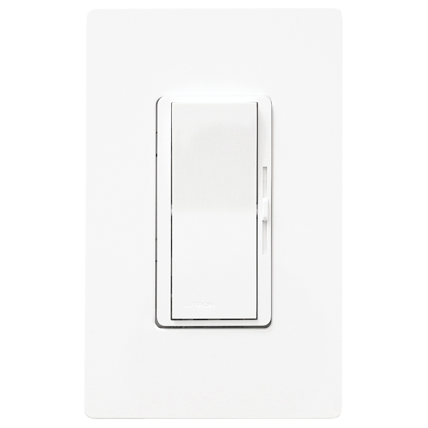 Picture of Lutron Diva DVW-600PH-WH Dimmer, 220/240 V, 600 W, Halogen, Incandescent Lamp, White