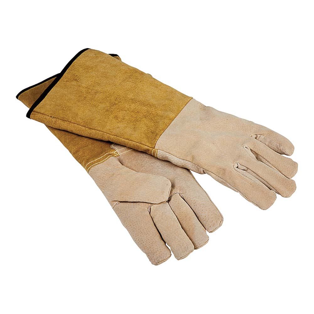 Picture of Simple Spaces CPA03110MM3L Hearth Fireplace Gloves, Unisex, Pigskin Leather