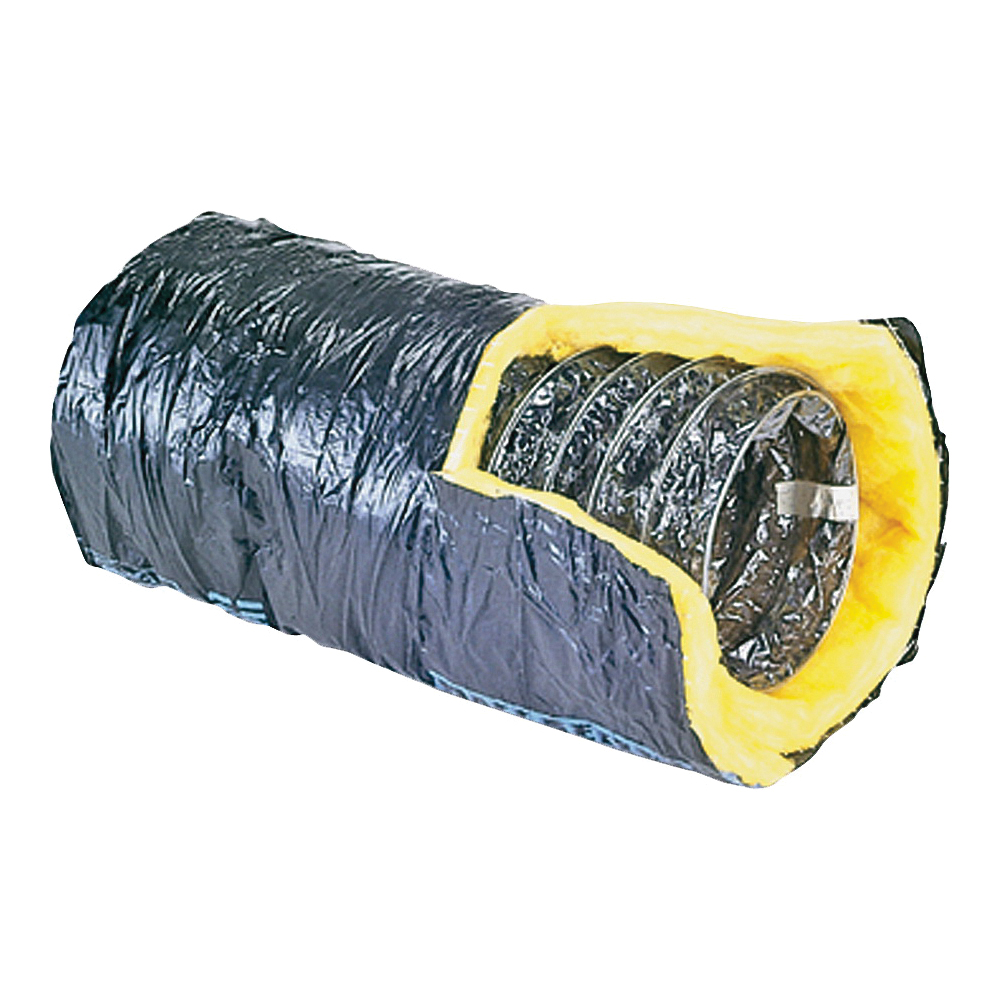 Picture of Master Flow F6IFD8X300 Insulated Flexible Duct, 8 in, 25 ft L, Fiberglass, Silver