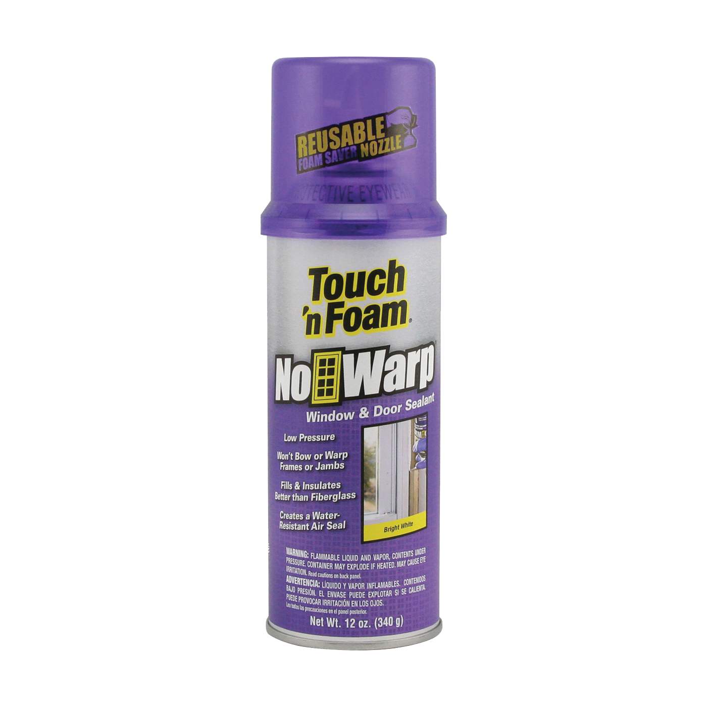 Picture of Touch 'n Foam 4001044000 Foam Sealant, Bright White, 12 oz Package, Can