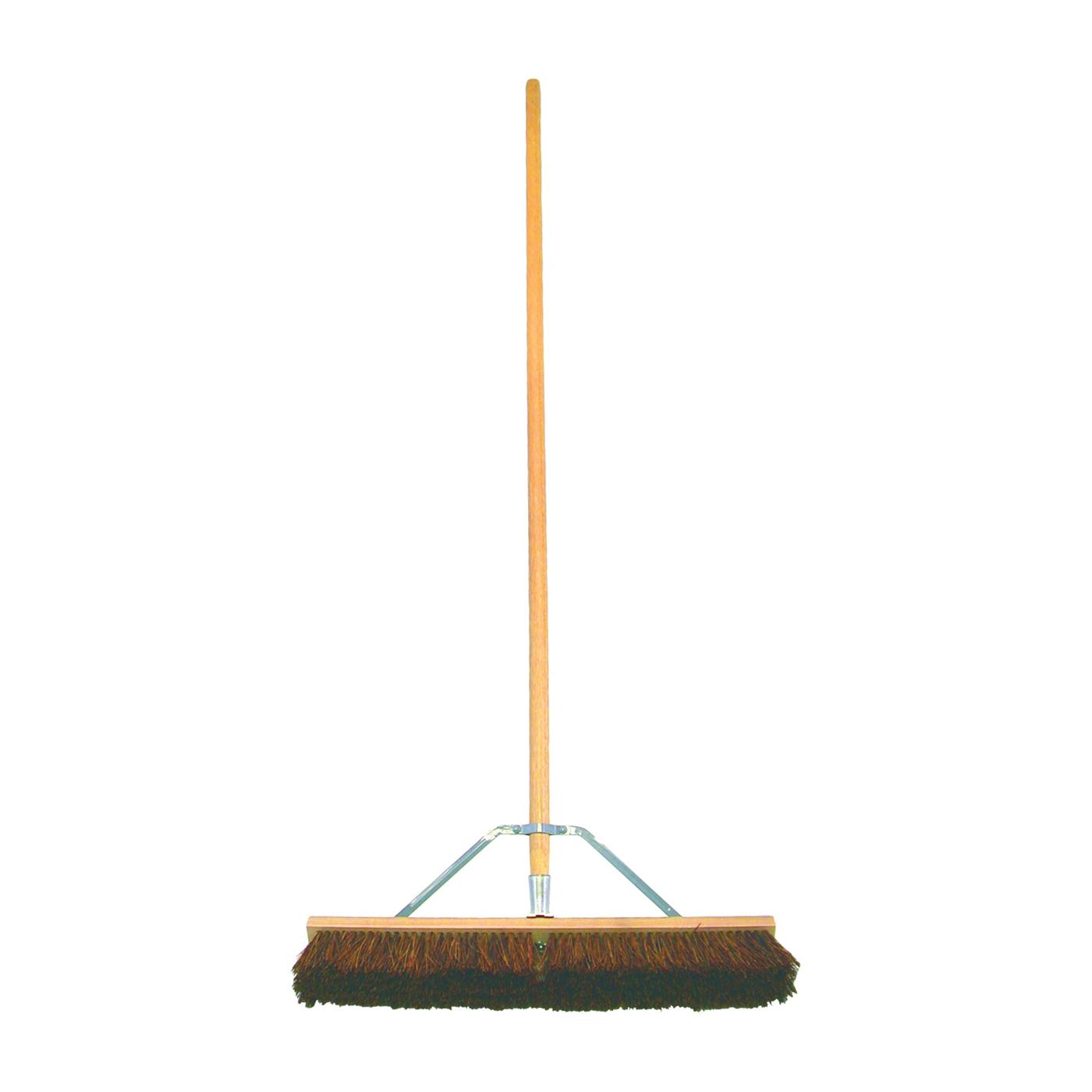 Picture of BIRDWELL 5024-4 Contractor Push Broom, 3 in L Trim, Natural Palmyra Fiber Bristle, Hardwood Handle