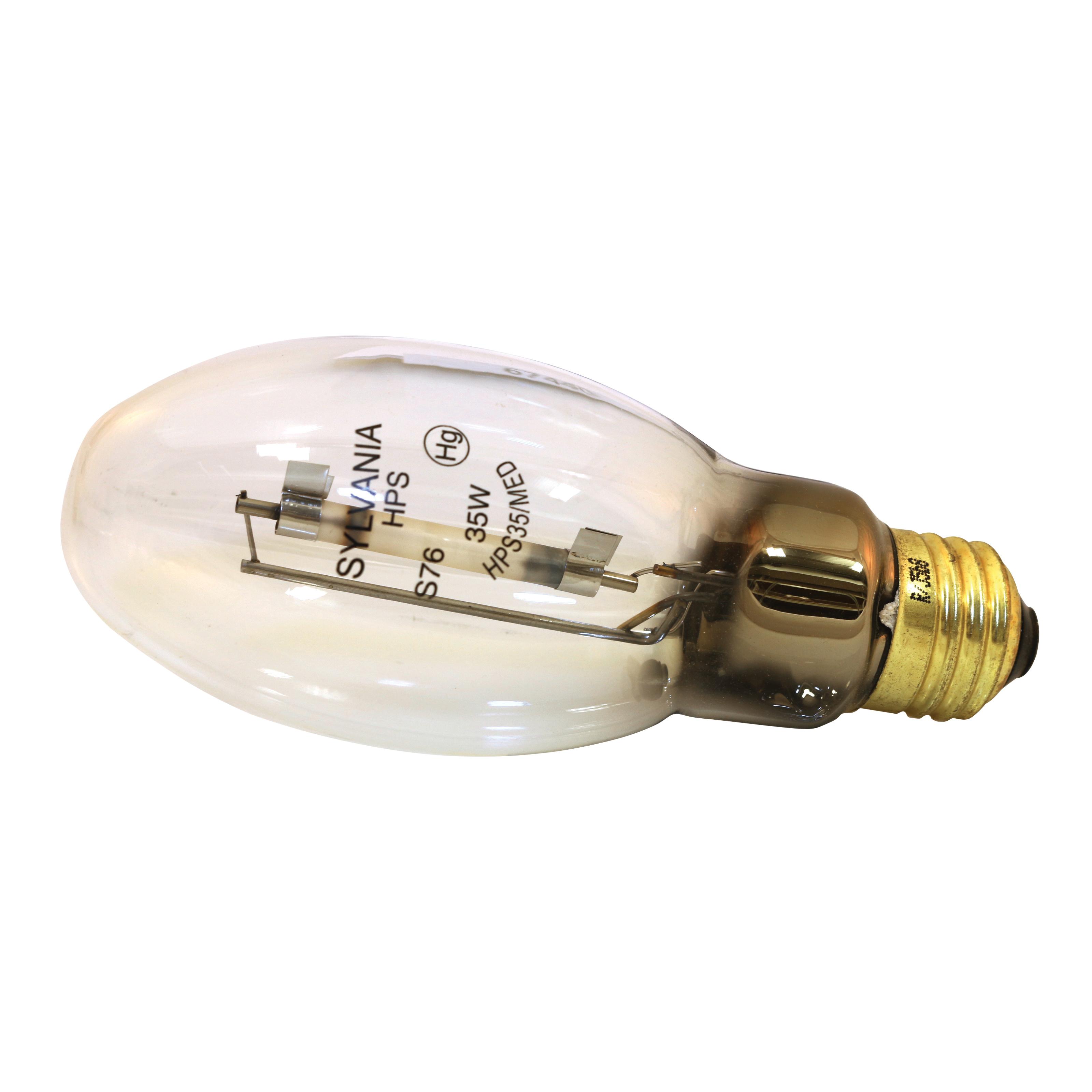 Picture of Sylvania LUMALUX 67440 Sodium Lamp, 70 W, Medium E26 Lamp Base, 2250 Lumens, 1900 K Color Temp