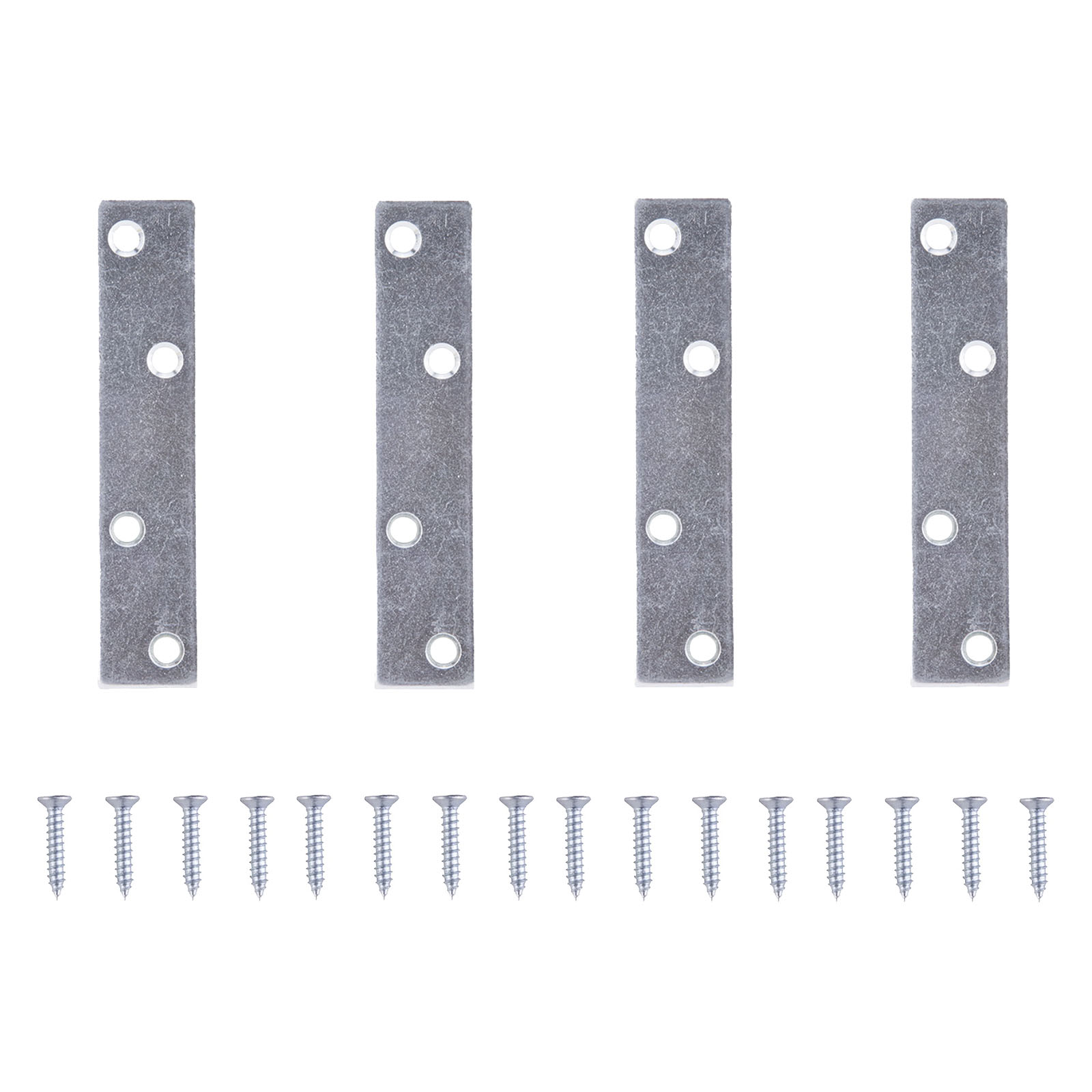 Picture of ProSource MP-Z04-C4PS Mending Plate, 4 in L, 7/8 in W, Steel, Zinc