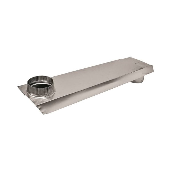 Picture of Lambro 3005 Dryer Vent Duct, 2 in W, 6 in H, 90 deg Angle, Aluminum