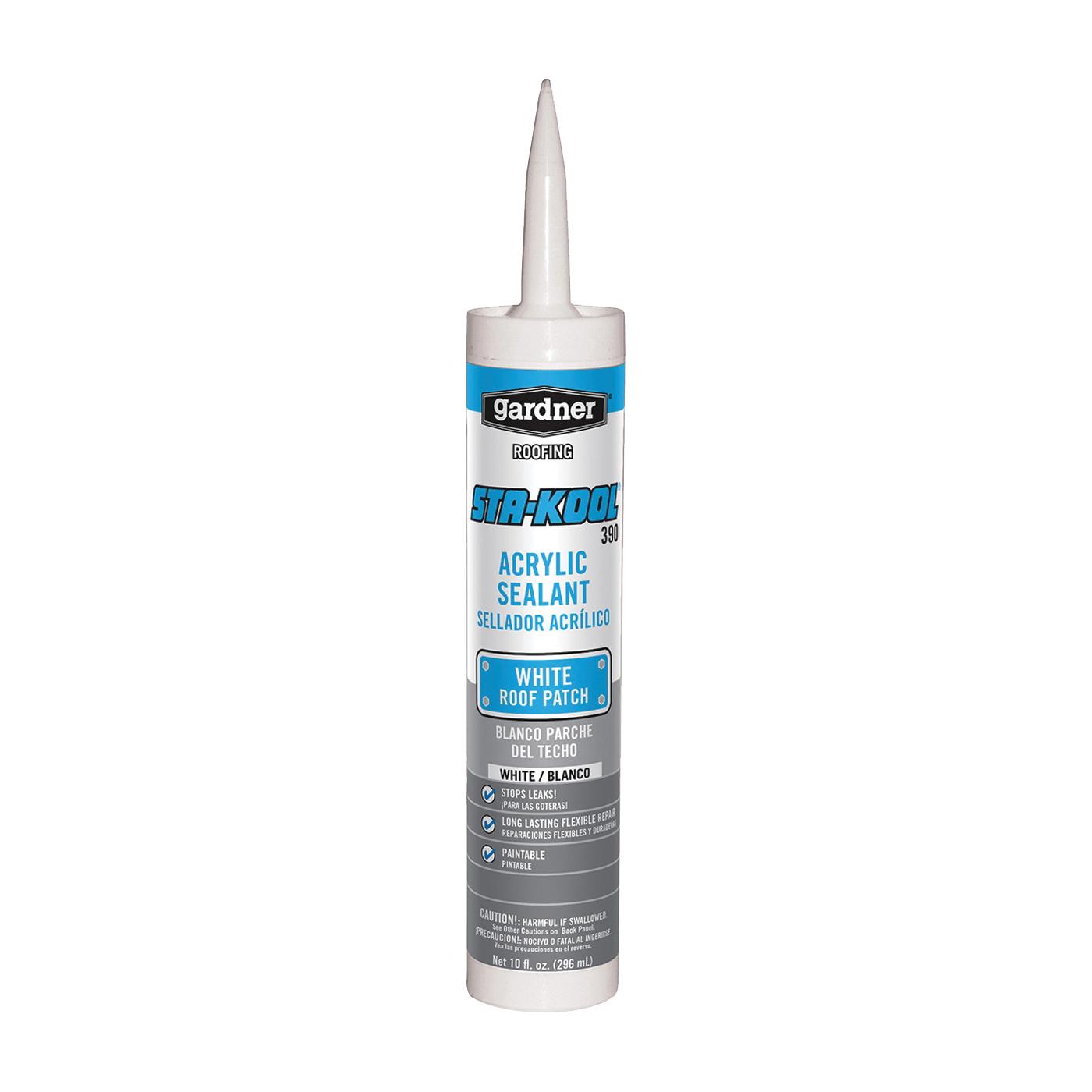 Picture of Gardner STA-KOOL 390 Series SK-3909 Acrylic Sealant, White, Liquid, 10 fl-oz Package