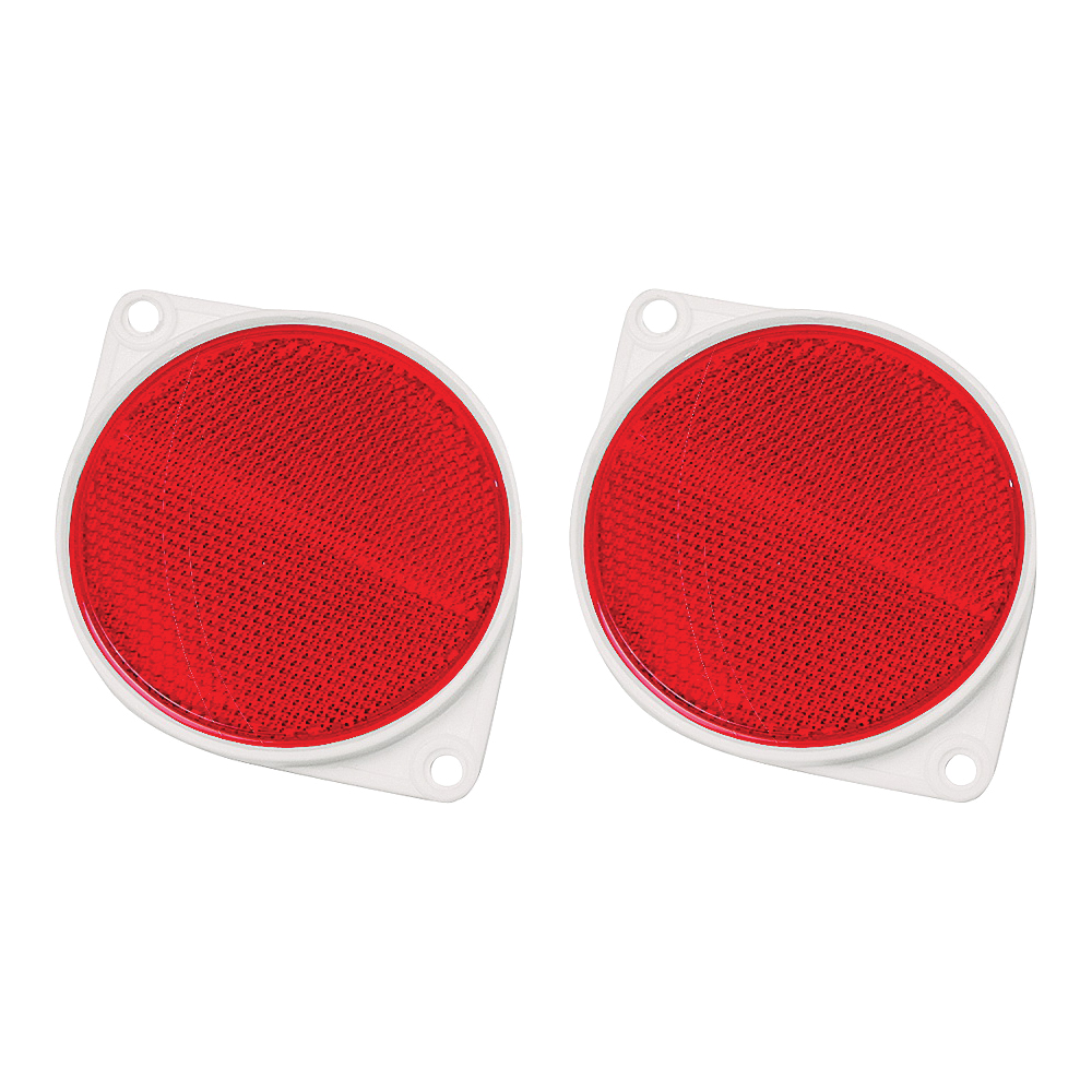 Picture of HY-KO CDRF-3R Carded Reflector, 9.63 in L Post, Red Reflector