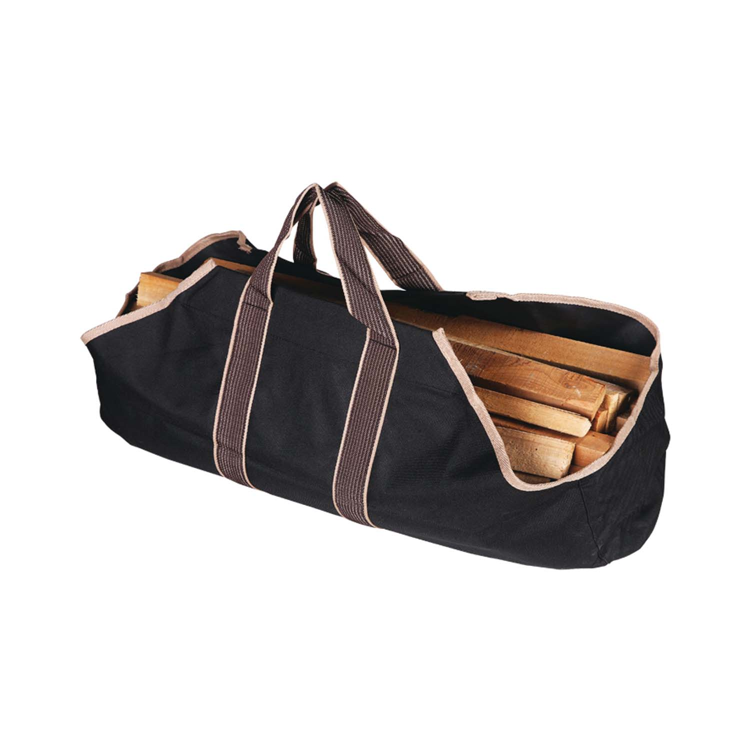 Picture of Simple Spaces CPB00010BK3L Wood Bag, 18 in W