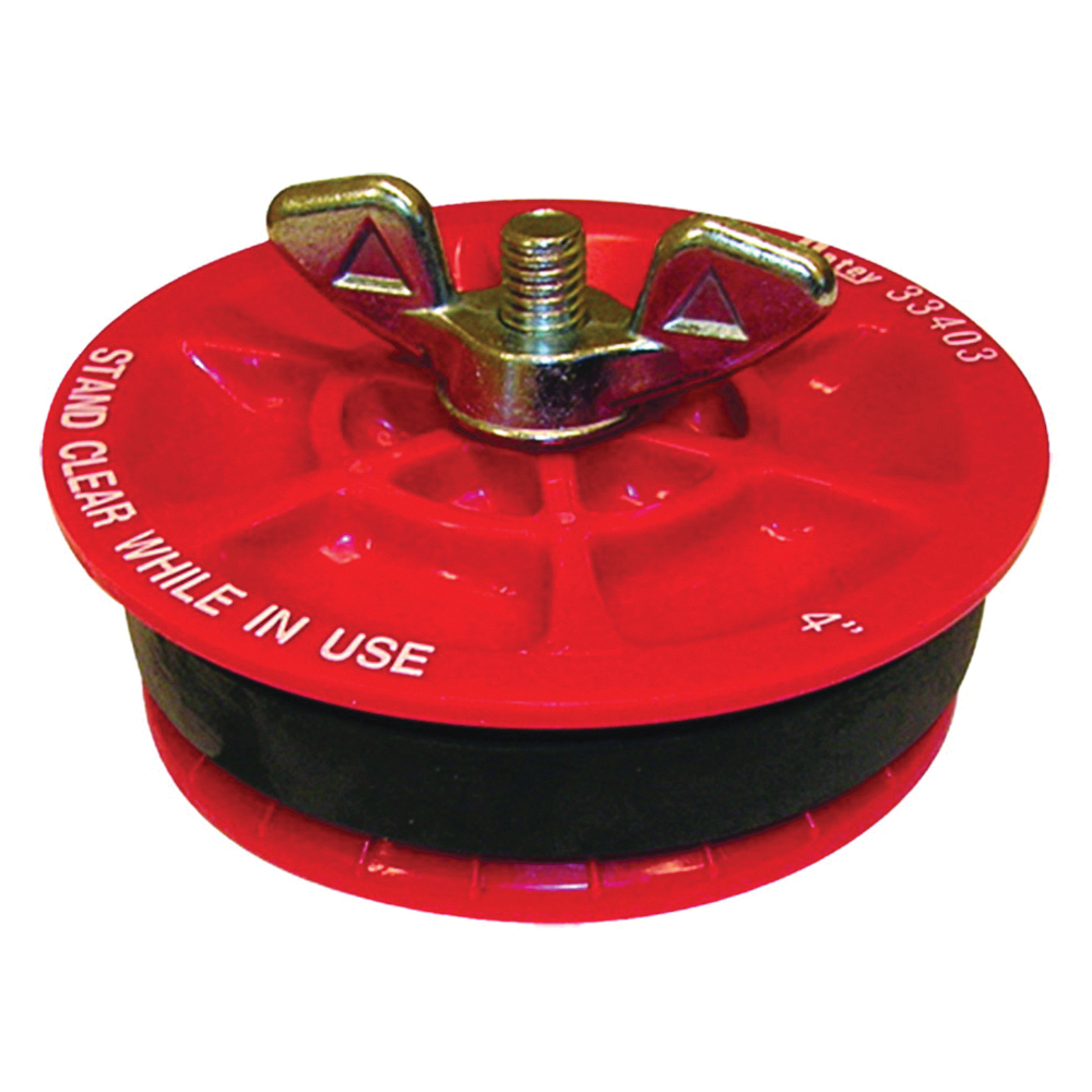 Picture of Oatey 33403 Test Plug, 4 in Connection, Plastic, Red