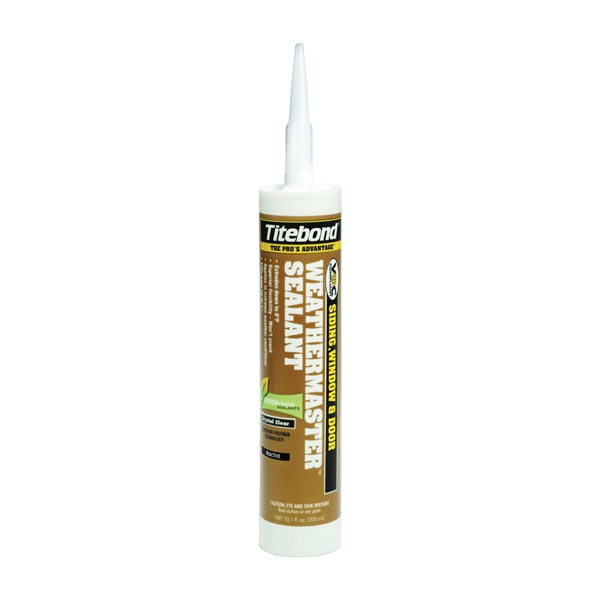 Picture of Titebond WeatherMaster 43991 Sealant, Crystal Clear, -75 to 250 deg F, 10.1 oz Package, Cartridge