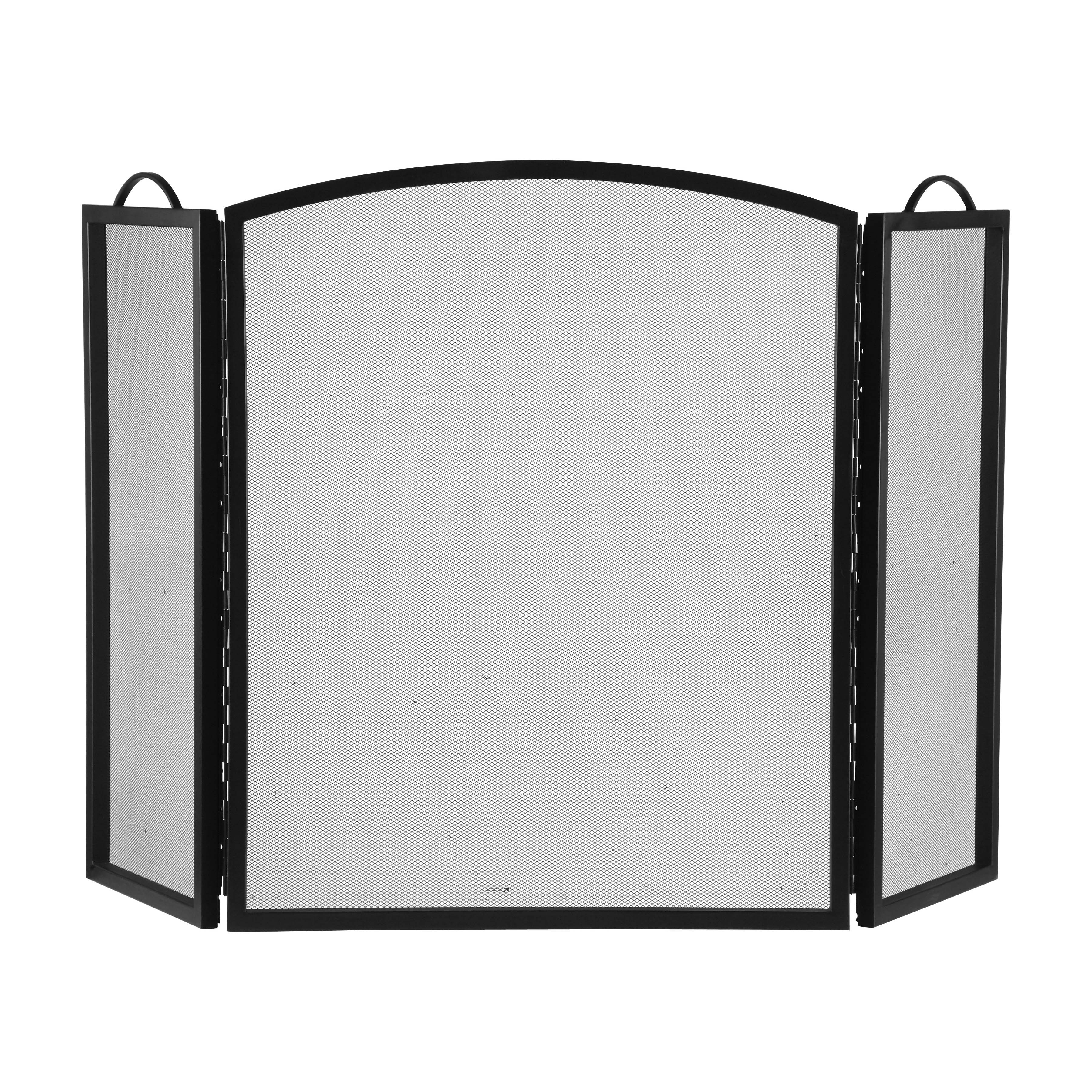 Picture of Simple Spaces CPO90505BK3L Fireplace Screen, 51-3/4 in W, 32 in H