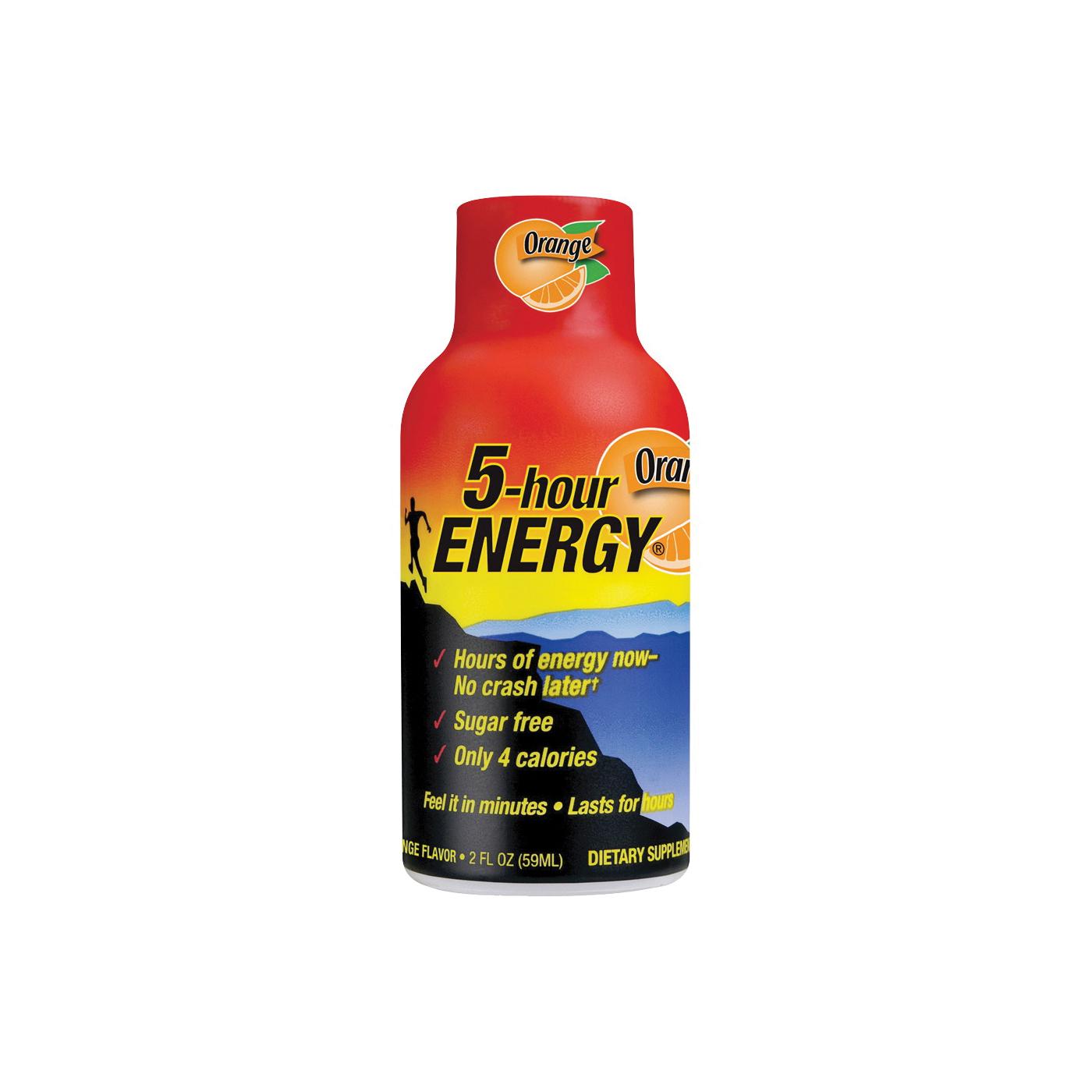 Picture of 5-hour ENERGY 318120 Sugar-Free Energy Drink, Liquid, Orange Flavor, 1.93 oz Package, Bottle