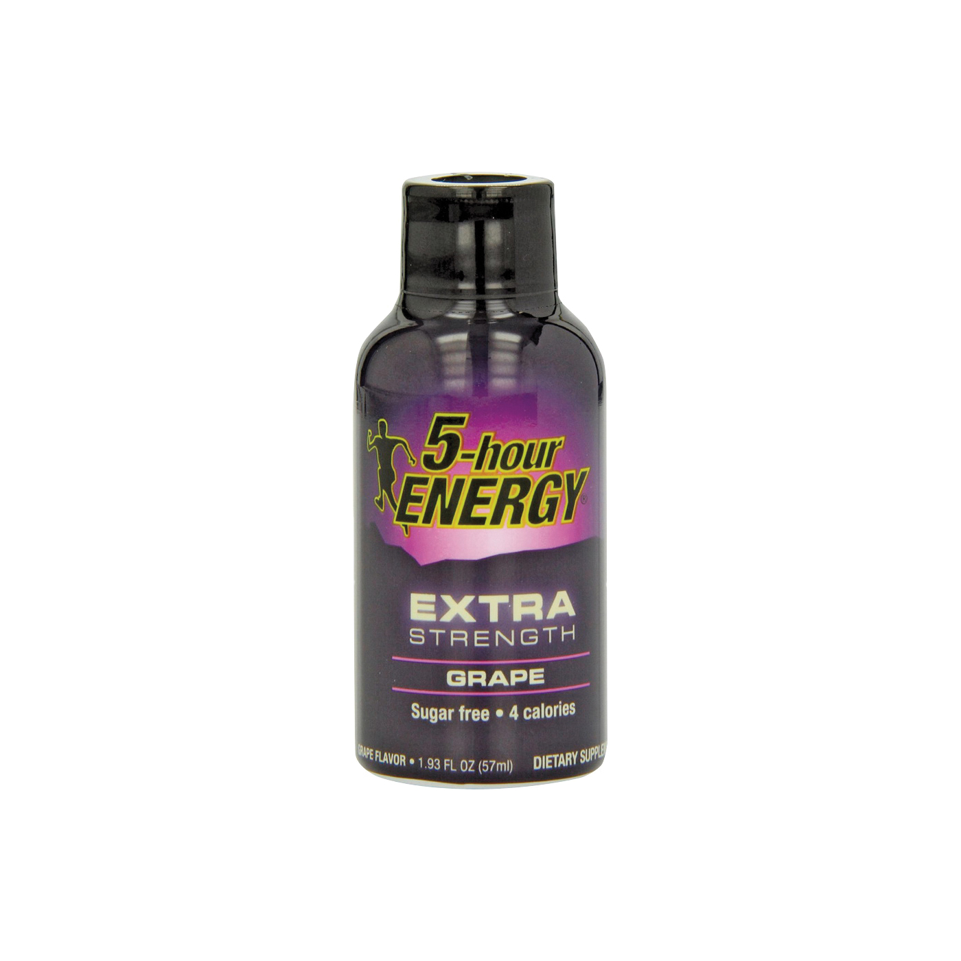Picture of 5-hour ENERGY 728127 Sugar-Free Energy Drink, Liquid, Grape Flavor, 1.93 oz Package, Bottle