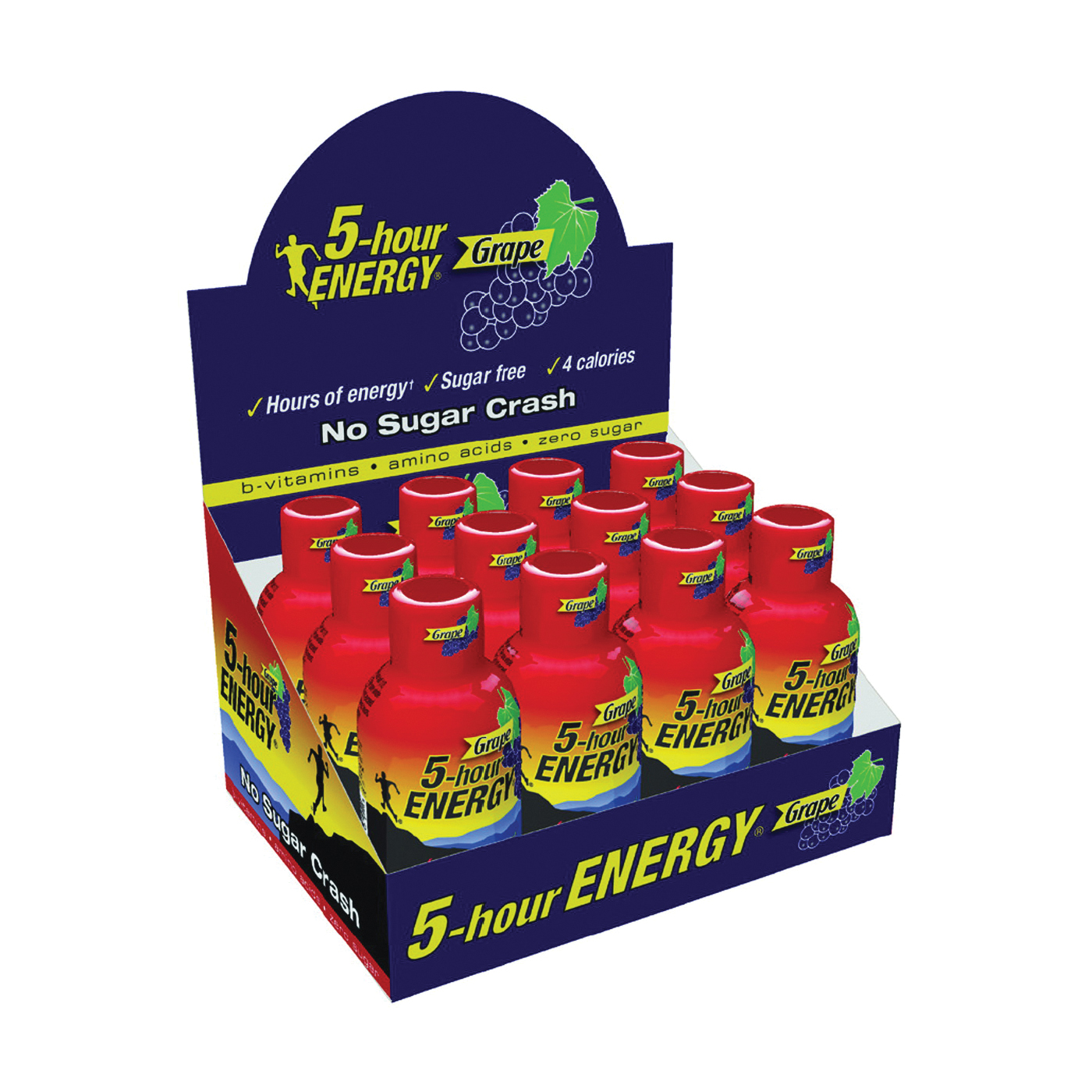 Picture of 5-hour ENERGY 218123 Sugar-Free Energy Drink, Liquid, Grape Flavor, 1.93 oz Package, Bottle