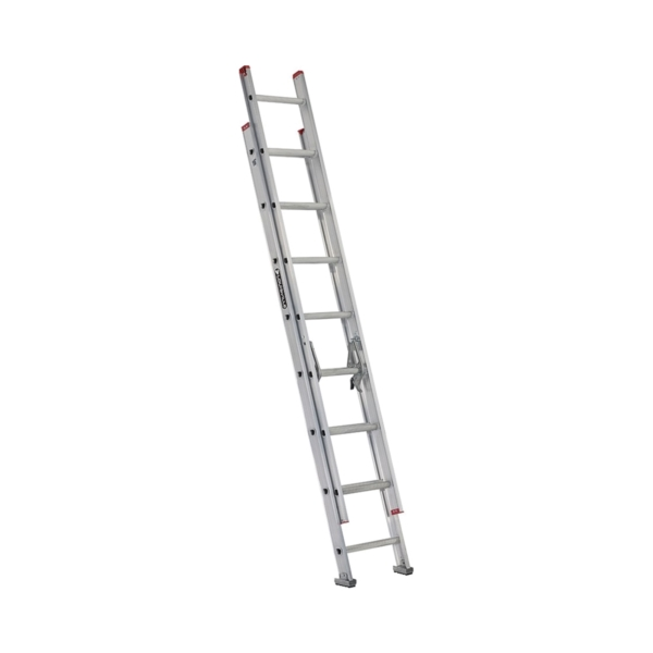 Picture of Louisville L-2324-16 Extension Ladder, 193 in H Reach, 200 lb, 1-1/2 in D Step, Aluminum